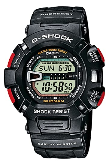 d47c4c434eab Casio Reloj Digital para Hombre de Cuarzo con Correa en Resina G-9000-1VER   Amazon.es  Relojes
