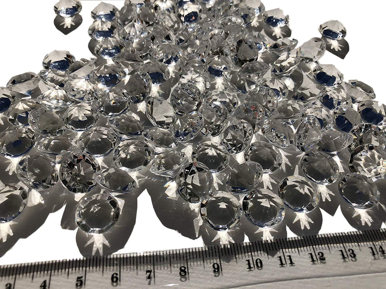 100pieza 15mm grandes Decoración de Diamantes Brillantes brillantes piedras de acrílico Piedras de Cristal Transparente Manualidades gltzer piedras joyas de piedras de brillantes para decorar Decorar dispersa de mesa decorativa de decoración de Crystal