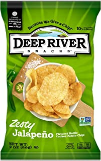 product image for Deep River Snacks Zesty Jalapeno Kettle Cooked Potato Chips, 2-Ounce (Pack of 24)
