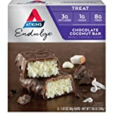 Atkins, Endulge, Barre de chocolat au coco, 5 barres, 1,4 oz (40 g) de chaque