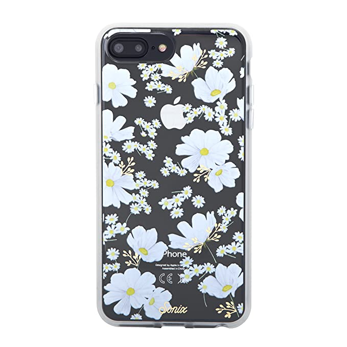 sports shoes bb1ee 5566e Sonix, iPhone 8 PLUS, 7 PLUS, 6 PLUS, DITSY DAISY (white flowers) Cell  Phone Case [Military Drop Test Certified] Sonix Women's Clear Case Series  for ...