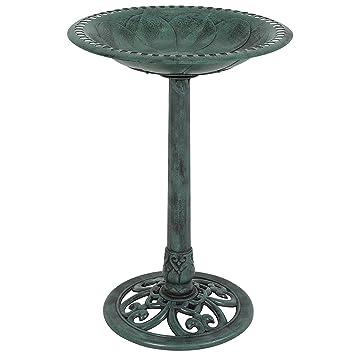 Amazoncom Best Choice Products Pedestal Bird Bath Garden Decor