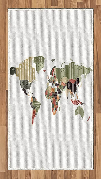 Amazon.com: Lunarable World Map Area Rug, Russia sil ... on map of my room, map of a home, map of bathrooms, map of a boat, map of a beach, map of a hotel, map of a barn, map of basement, map of a computer, map of a party, map of bath, map of my bedroom activity, map of a classroom, map of bar, map of den, map of a car, map of a restaurant, map of our world, map of a toilet, map of office,