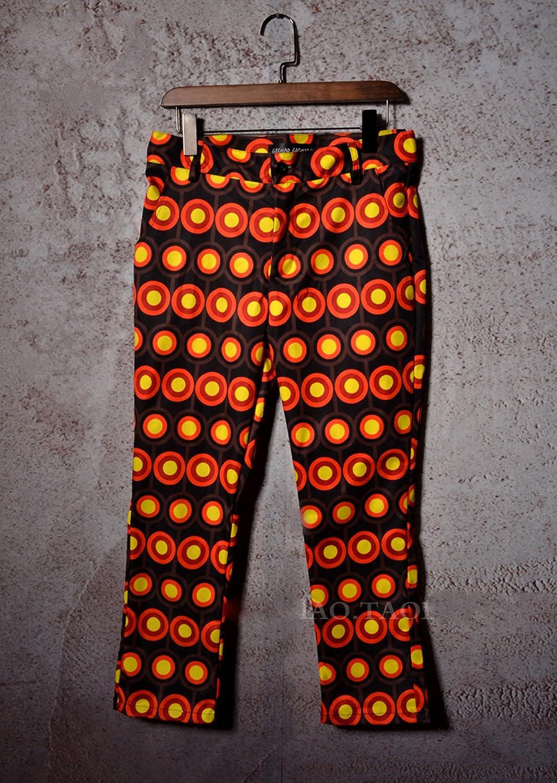 MOKEWEN Mens Circle Polka Dots Skinny Fit 2 Piece Suit Set
