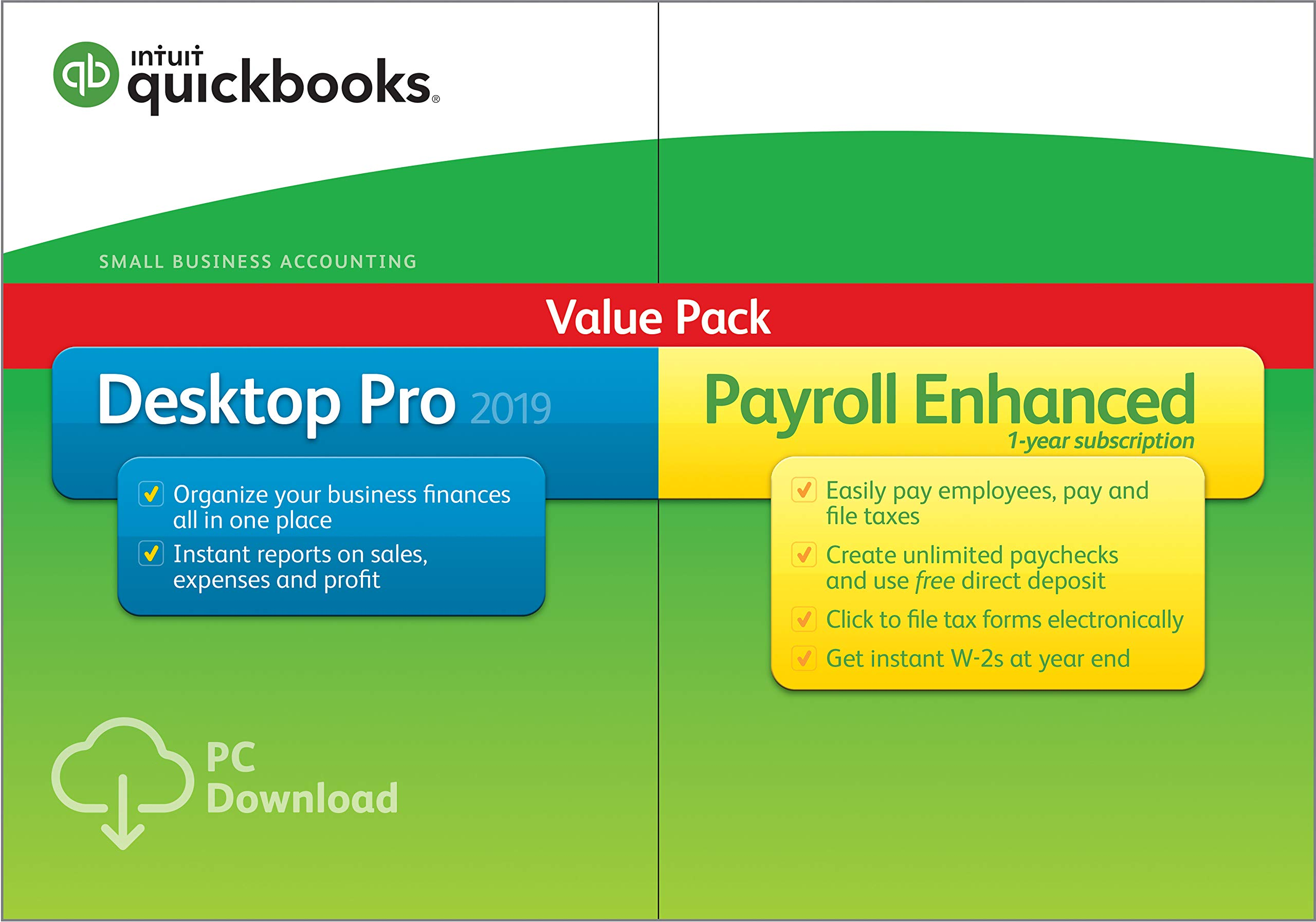 QuickBooks Desktop Pro 2019 with Enhanced Payroll [PC Download] by Intuit