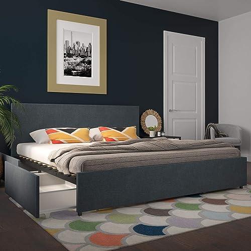 Novogratz Kelly Upholstered Storage Platform Bed