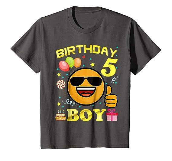 Kids 5 Birthday Boy Shirt Years Old 5th Gift 4 Asphalt