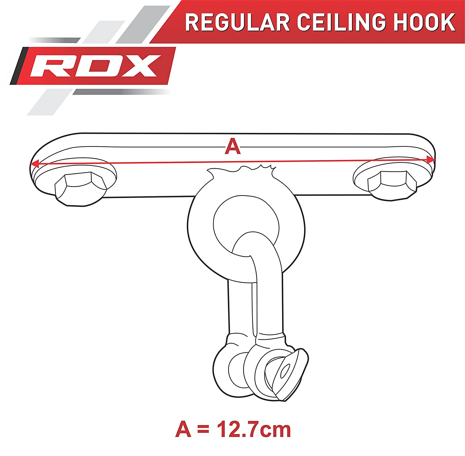 RDX Heavy Duty Boxing Punch Bag Iron Hook 6 Panel Chains Wall Mount Punching MMA Training Hanger