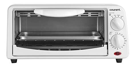 Courant TO 621W 2 Slice Compact Toaster Oven With Bake Tray And Toast Rack