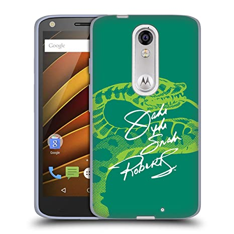 Official WWE Signature Jake The Snake Roberts Soft Gel Case for Droid Turbo 2 / X
