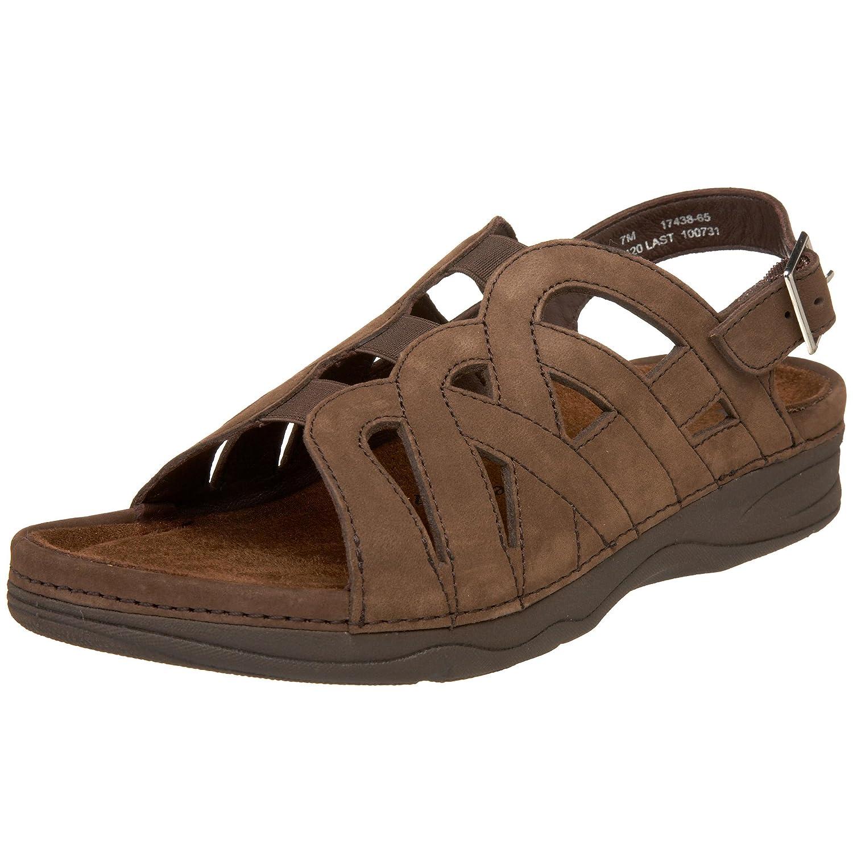 Drew Shoe Women's Sandy Sandal B002VPCP8C 7 XW US|Brown Nubuck