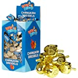 100 Medium Dreidels - Gold - Classic Chanukah Spinning Draidel Game, Gift and Prize - Bulk Value Pack - by Izzy 'n' Dizzy