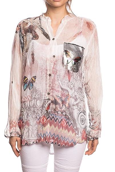 Abbino 12776 Blusa Top para Mujer 3 Colores - Entretiempo Primavera Verano Otoño Mujer Femeninas Elegantes