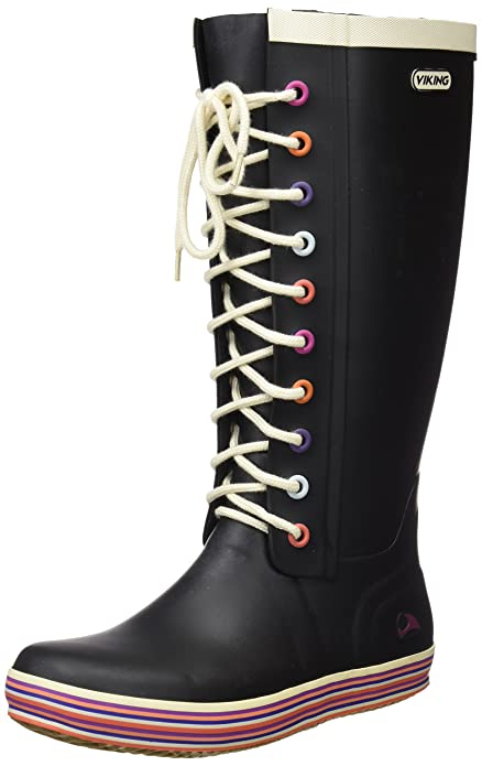 Viking Retro Light - Botas Antideslizantes de goma mujer, color negro, talla 28