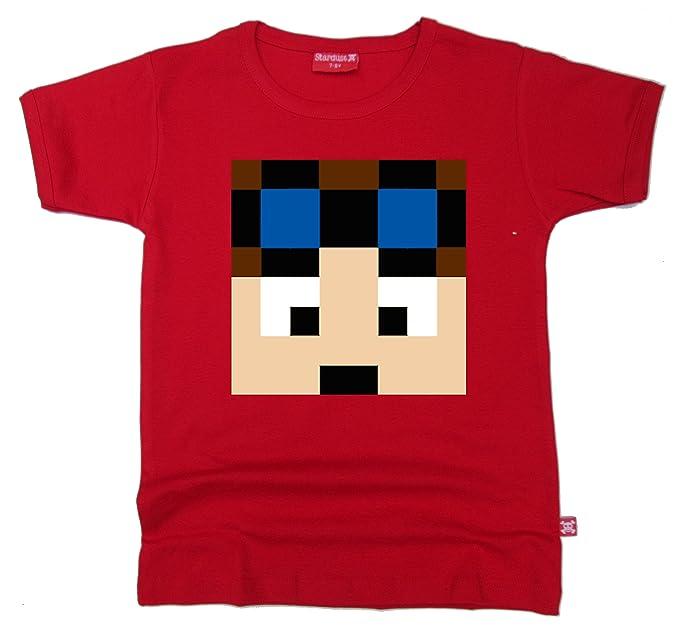 Stardust - Camiseta de Manga Corta - para Niño Rojo Rosso