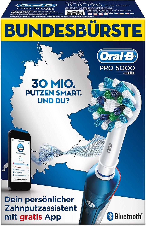 Oral B PRO 5000 wiederaufladbare elektrische Zahnbürste mit Bluetooth (Limitierte Edition Bundesbürste)