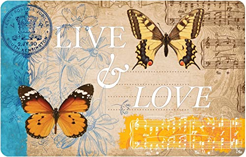 Premium Comfort Butterfly Card Mat, 22 by 31-Inch, Multicolor