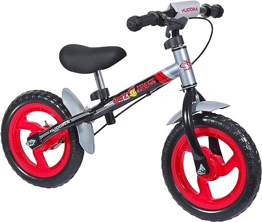 Hudora 10071 4.0 - Bicicleta sin Pedales (Ruedas de 30,5 cm), Color Negro y Plateado: Amazon.es: Juguetes y juegos