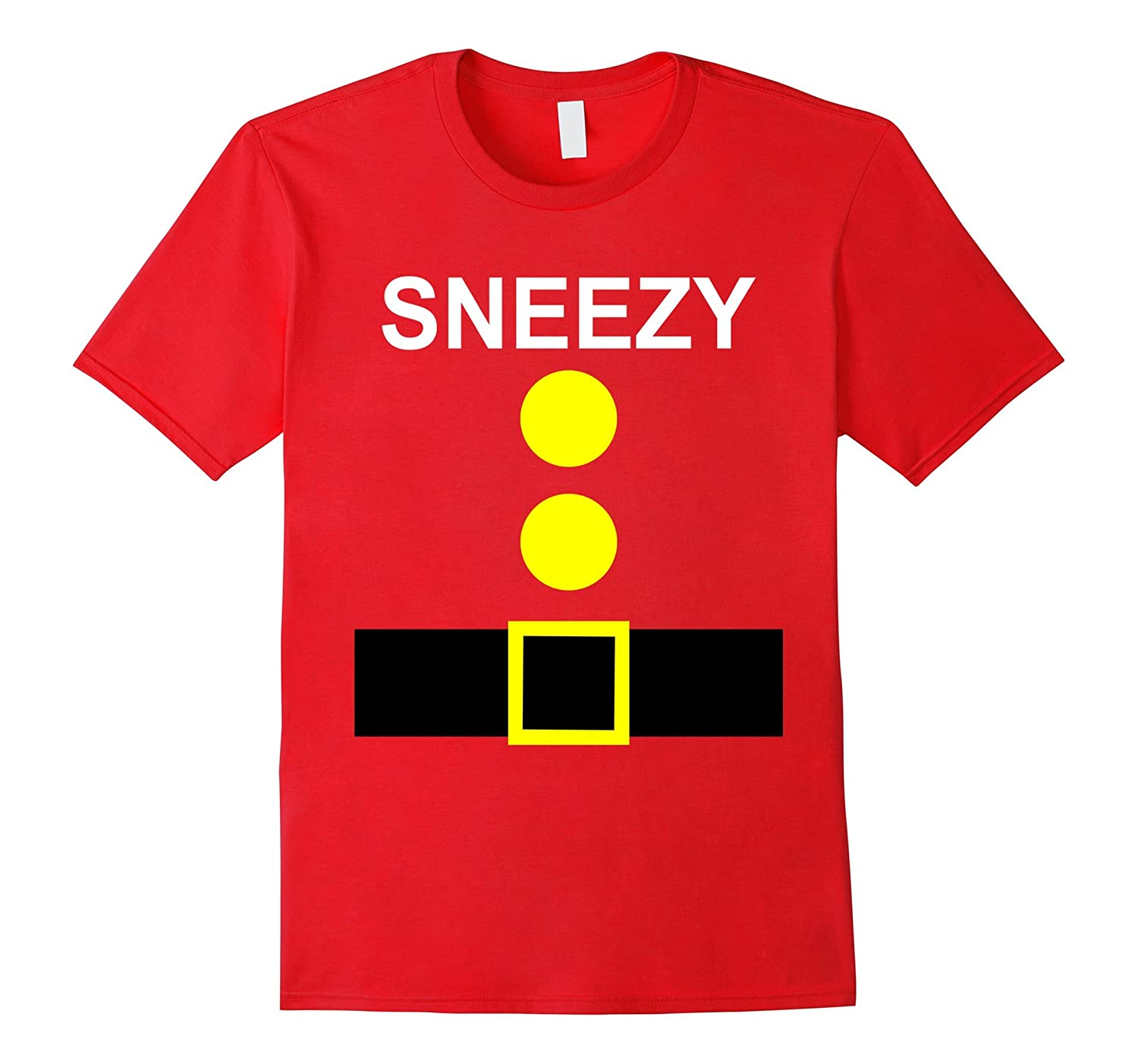 Halloween Group Costume Suit Shirt of Feeling Sneezy-T-Shirt