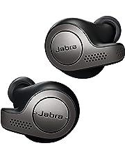 Jabra True Wireless Earbuds Bluetooth in-Ear Headphones with Earphones Charging Case & One-Touch Amazon Alexa & 15 Hours Battery, Titanium Black, (Elite 65t)
