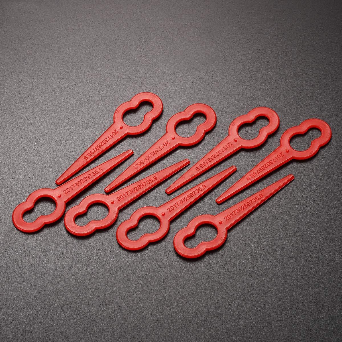 OUNONA - Cuchillas de plástico para cortacésped (50 unidades ...