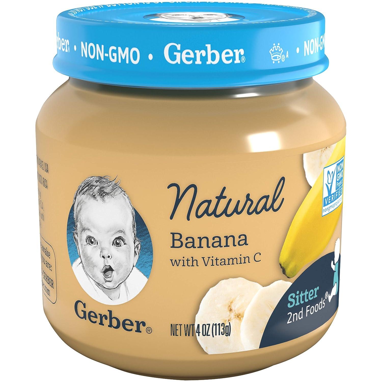 Gerber 2nd Foods Baby Food Jars, Natural Banana, 4 Ounce (Pack - 12)