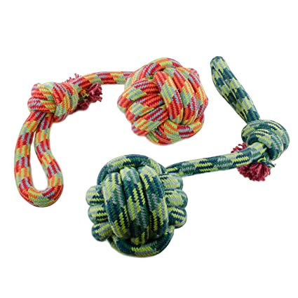 Pet Supplies : Evelyne GMT-10185 1-Piece Pet Toy Ball Knot