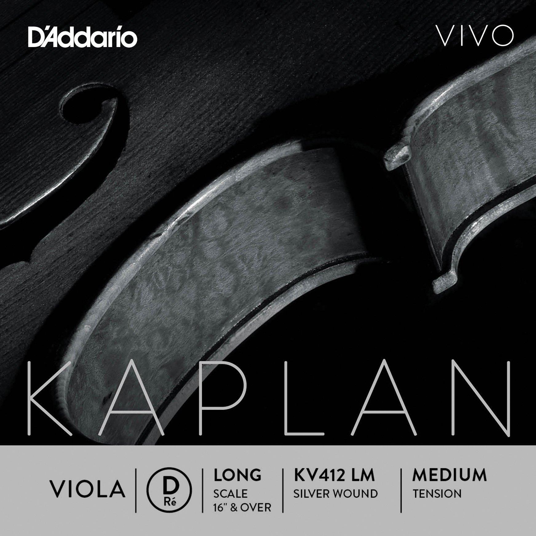 D'Addario KV412 LM Kaplan Vivo Viola D String