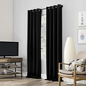 Sun Zero Nordic 2-pack Theater Grade Extreme 100% Blackout Grommet Curtain Panel Pair