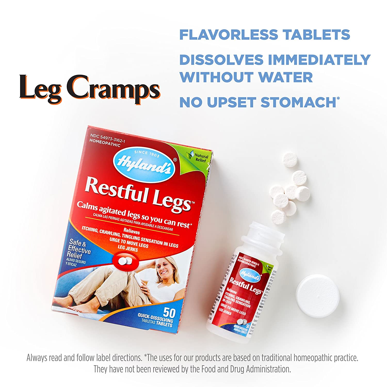Amazon.com: Hyland's Restful Legs Tablets, Natural Relief of ...