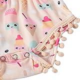 Leapparel Newborn Pink Cotton Floral Pom 2pcs
