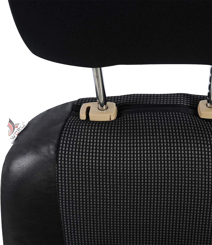 eSituro SCSC0129 universal Sitzbezug Sitzbez/üge f/ür Auto Transporter 1+2 Schonbezug Schoner schwarz blau