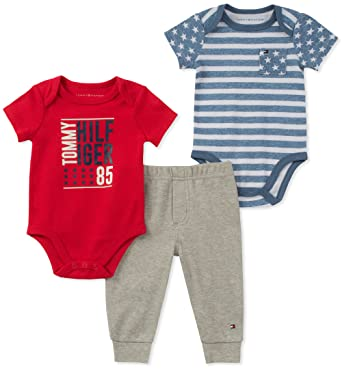 025478a3 Amazon.com: Tommy Hilfiger Baby Boys 3 Pieces Creeper Pants Set: Clothing