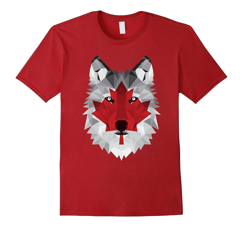 Canadian Maple Leaf Wolf T-Shirt-TH