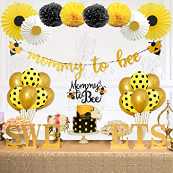 Party Inspo Mommy To Bee Baby Shower Decorations Supplies Kit Bumble Bee Decorations Banner Bee Cake Topper Bee Balloons For Bumblebee Themed