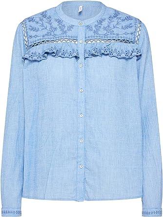 Pepe Jeans Camisa Holly Azul Mujer: Amazon.es: Ropa y accesorios