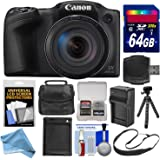 Canon PowerShot SX420 IS Wi-Fi Digital Camera (Black) with 64GB Card + Case + Battery & Charger + Flex Tripod + Sling Strap + DigitalAndMore Accessory Deluxe Bundle