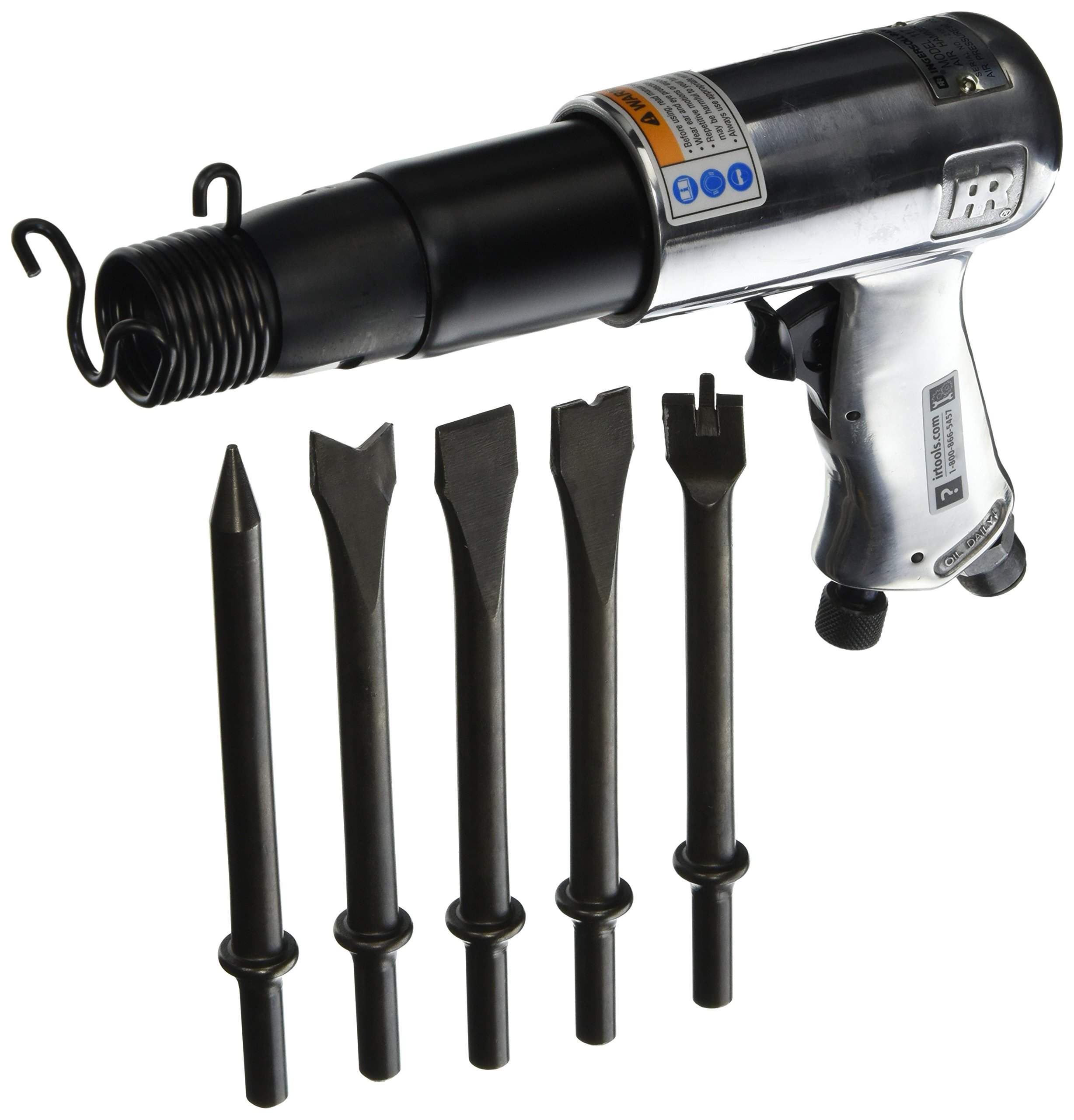 Ingersoll-Rand 117K 2,000 Blows-Per-Minute Standard Duty Pnuematic Hammer with 5 Chisel Set by Ingersoll-Rand