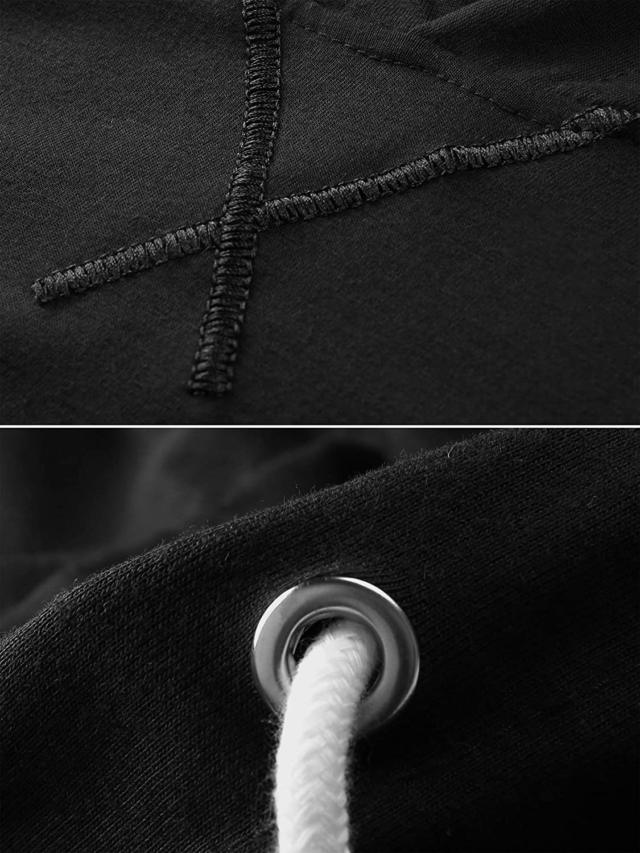 DAIKEN Mens Loose Fit Long Sleeve Lightweight Hoodie with Kanga Pocket
