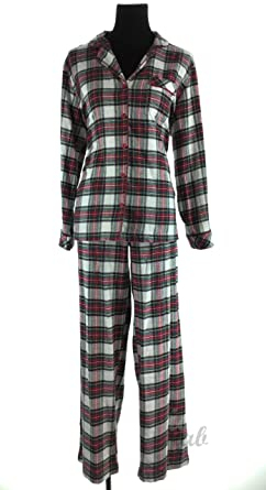 7c5f6dc257 Charter Club Women s Printed Flannel Pajama Set at Amazon Women s ...