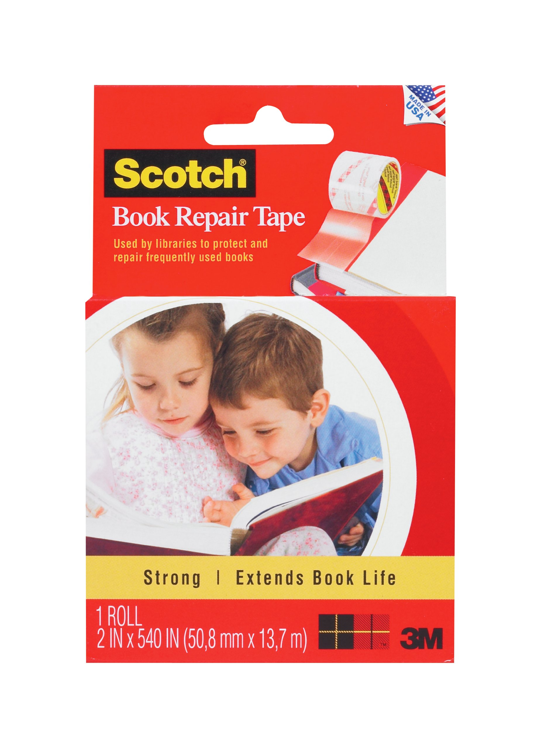 Scotch Book Tape, 2 x 540 Inch (845-R) by Scotch Brand