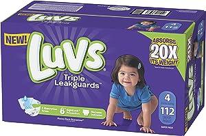 Luvs Luvs Triple leakguards Diapers Size 4 112 Count, 112 Count