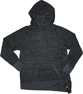 Calvin Klein Performance Women S Lace Up Side Hoodie Black Medium At Amazon Women S Clothing Store