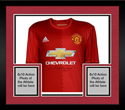 98e0f1552 Framed Wayne Rooney Manchester United Autographed Adidas 2016-17 Red Jersey  - Fanatics Authentic Certified at Amazon s Sports Collectibles Store