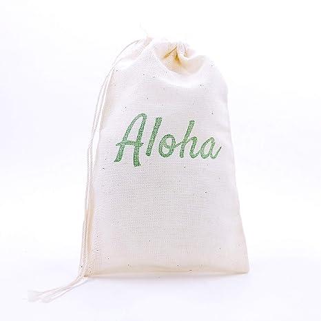 Amazon.com: Aloha - Bolsas de regalo, 10 unidades, diseño ...