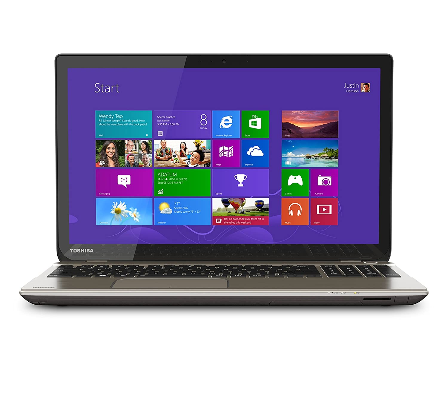 Amazon: Toshiba Satellite P55tb5262 156inch Touchscreen Laptop: Puters & Accessories