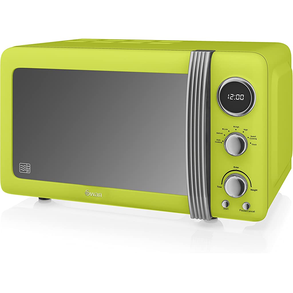 Swan Retro Lime Green Digital Microwave