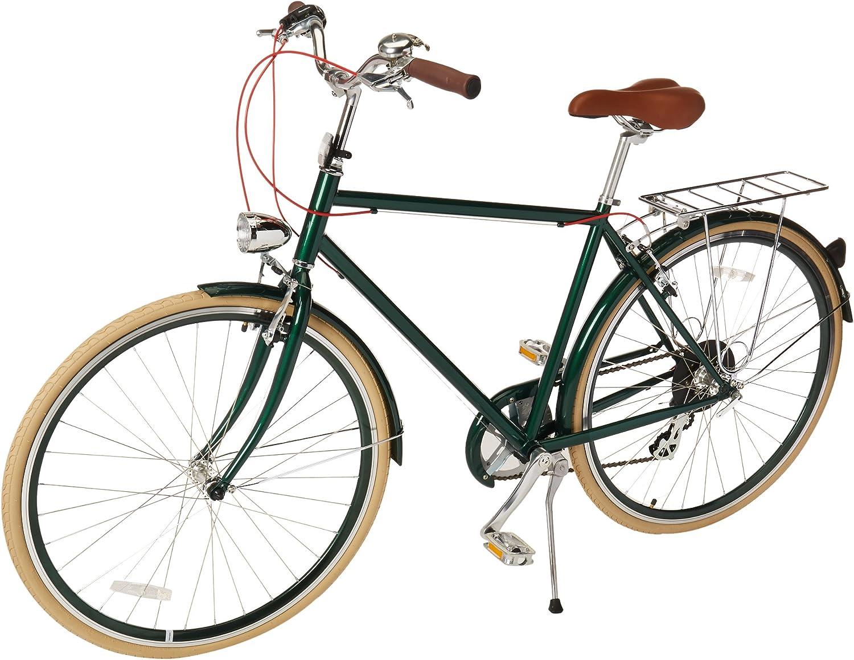 Amazon Com Retrospec Bicycles Diamond Frame Sid 7 Hybrid Urban Commuter Road Bicycle Green Small 50cm Sports Outdoors