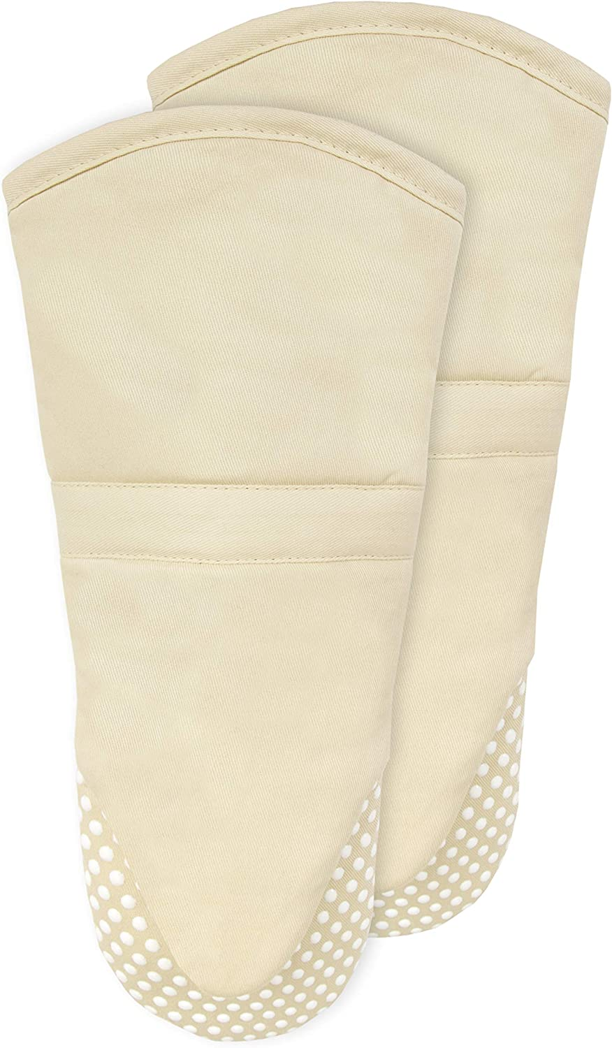 RITZ Royale Silicone Oven Mitt, 2-Pack, Latte