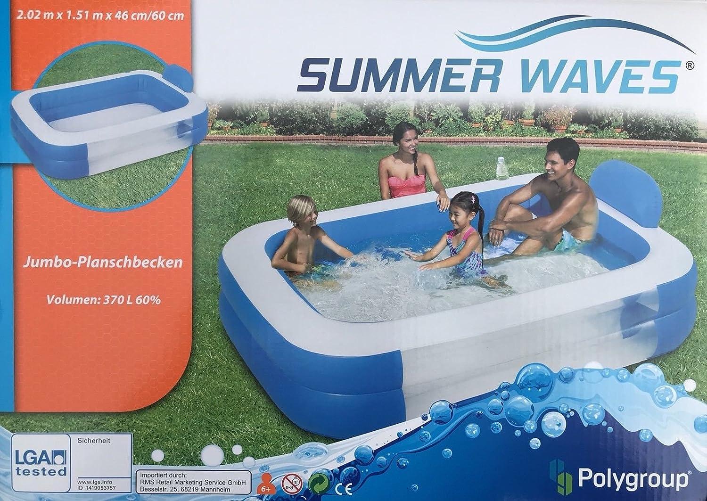 Summer Waves Pool Plan Caracoles 2.02 × 1, 51 × 46/60 cm: Amazon ...